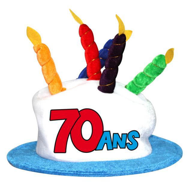 Chapeau anniversaire 70 ans accessoires de f te et for Deco annee 70 pour anniversaire