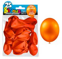 25 BALLONS METALLIQUES ORANGE