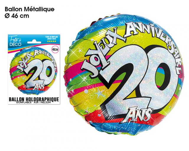 BALLONS HELIUM 20 ANS