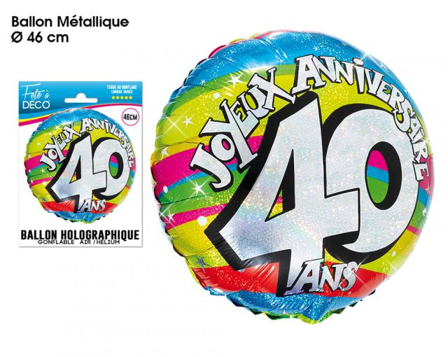 BALLONS HELIUM 40 ANS