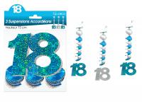 SUSPENSIONS ACCORDEONS 18 ANS HOLOGRAMME BLEUES