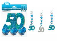 SUSPENSIONS ACCORDEONS 50 ANS HOLOGRAMME BLEUES