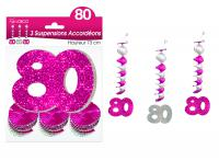 SUSPENSIONS ACCORDEONS 80 ANS HOLOGRAMME ROSES