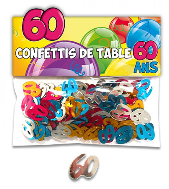 CONFETTIS DE TABLE 60 ANS
