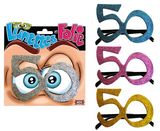 Lunettes anniversaire 50 ans accessoires de f te et for Decoration 50 ans
