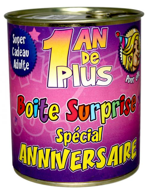 Boite surprise anniversaire femme accessoires de f te et d coration de table surprisez vous - Anniversaire surprise original ...