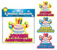 DECORATIONS STICKERS JOYEUX ANNIVERSAIRES