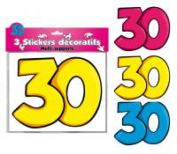DECORATIONS STICKERS 30 ANS
