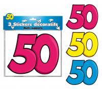 DECORATIONS STICKERS 50 ANS
