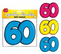 DECORATIONS STICKERS 60 ANS