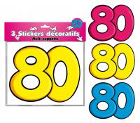 DECORATIONS STICKERS 80 ANS