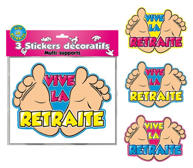 DECORATIONS STICKERS VIVE LA RETRAITE
