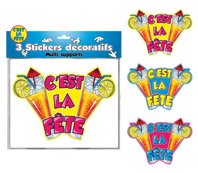 DECORATIONS STICKERS C EST LA FETE
