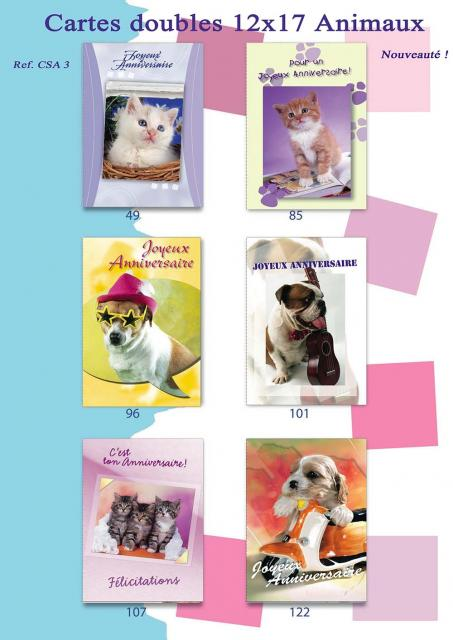 Carnets doubles Animaux