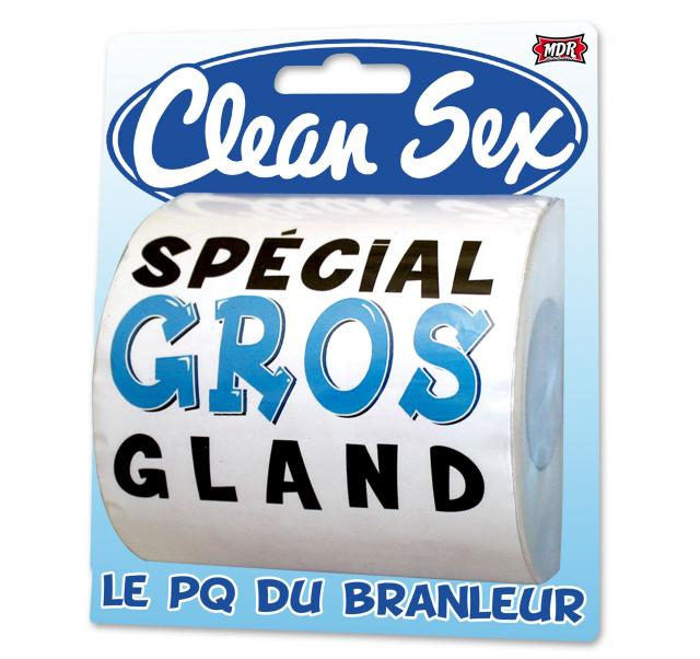 Papier toilette Clean Sex Homme