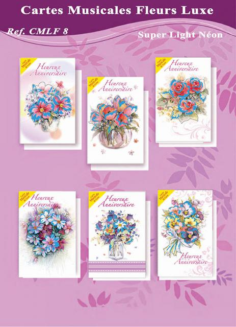 Cartes musicales luxe fleurs
