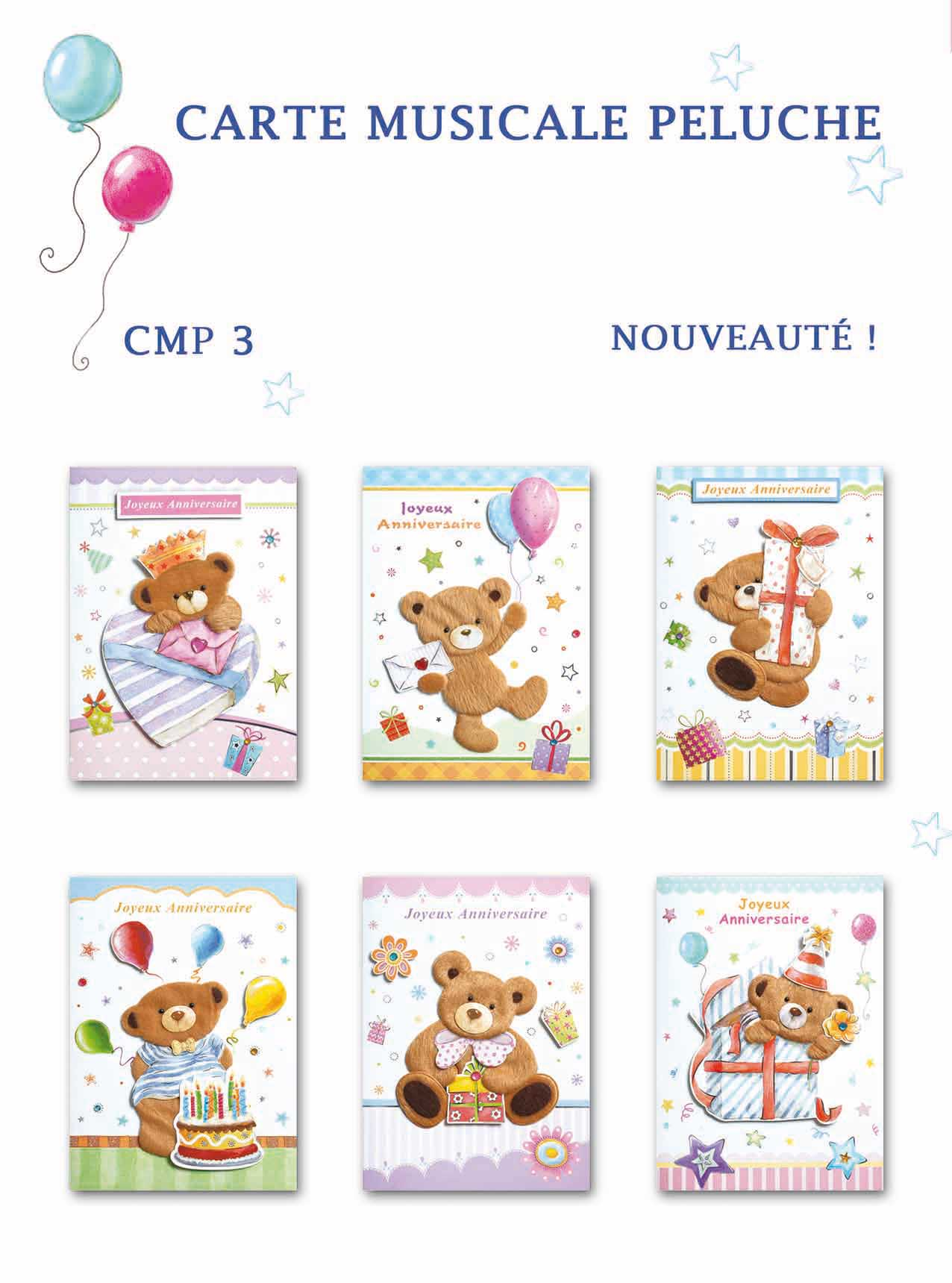 Cartes Musicales Peluche