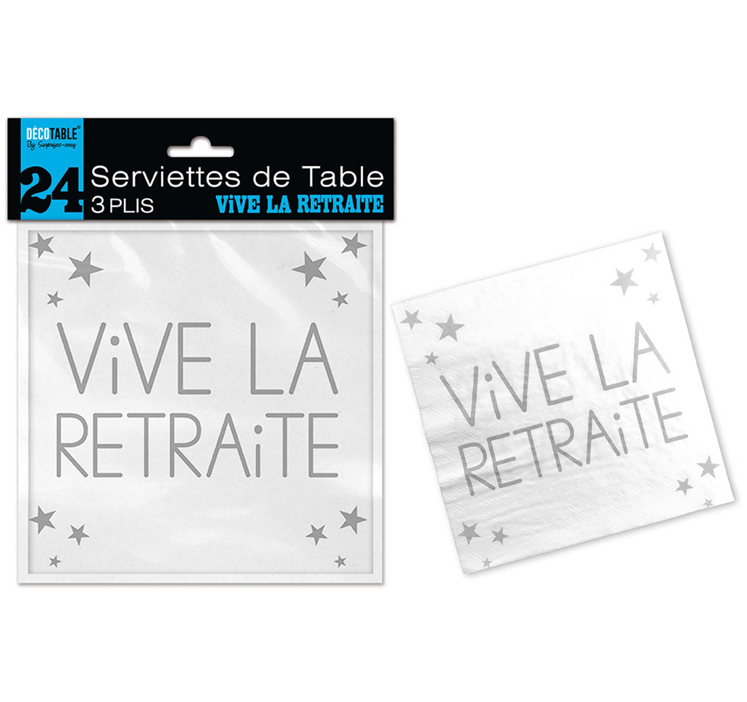 24 Serviettes de Table à l'âge 3 plis